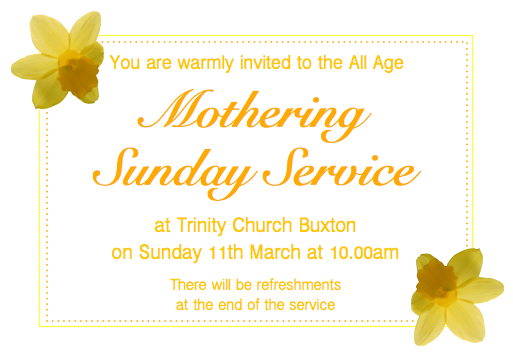 Mothering Sunday 2018
